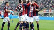 BOLOGNA, ITALY - DECEMBER 06:  Luca Rossettini # 13 of Bologna FC celebrates after scoring his team's second goal  during the Serie A match between Bologna FC and SSC Napoli at Stadio Renato Dall'Ara on December 6, 2015 in Bologna, Italy.  (Photo by Mario Carlini / Iguana Press/Getty Images)