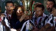 Italian Senate Speaker Maria Elisabetta Alberti Casellati surrenders the Trophy to Juventus' players at the end of the Italy Cup's Final soccer match Juventus FC vs AC Milan at Olimpico stadium in Rome, Italy, 09 May 2018. ANSA/ANGELO CARCONI
